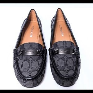 Coach Olive outline Sig C Jacquard loafers